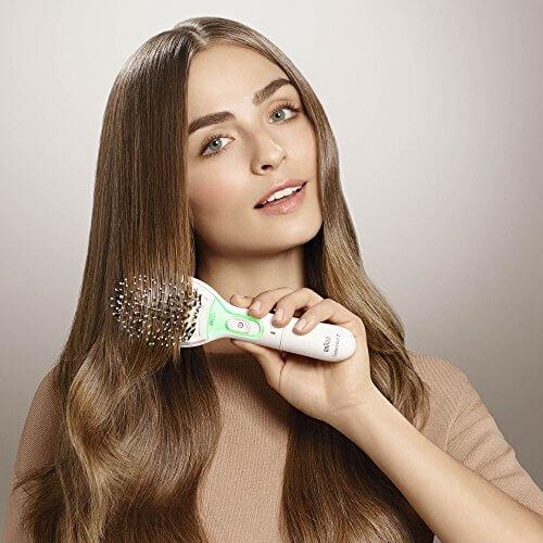 Braun Satin Hair 7 BR750 Glättbürste Naturborsten weiß