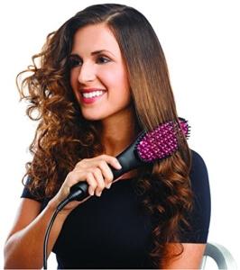 Genius Simply Straight Haar-Glätt-Bürste Pink-Schwarz